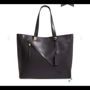 Sole Society Nycky Faux Leather Tote Black